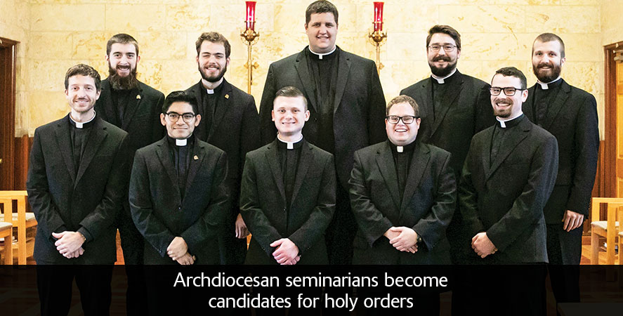 Archdiocesan seminarians become candidates for holy orders