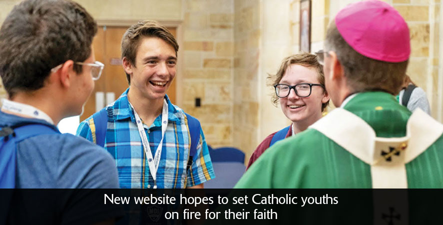 New website hopes to set Catholic youths on fire for their faith